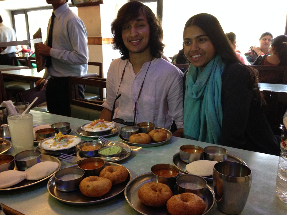Himraj & Madhuri indulge us in a typical Southern Indian lunch