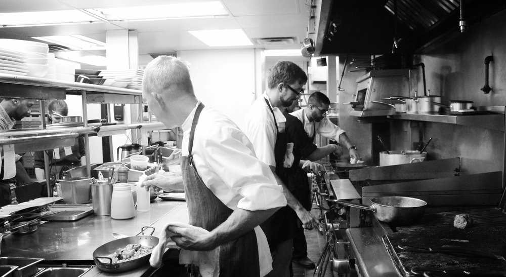 Kitchen, During the Service