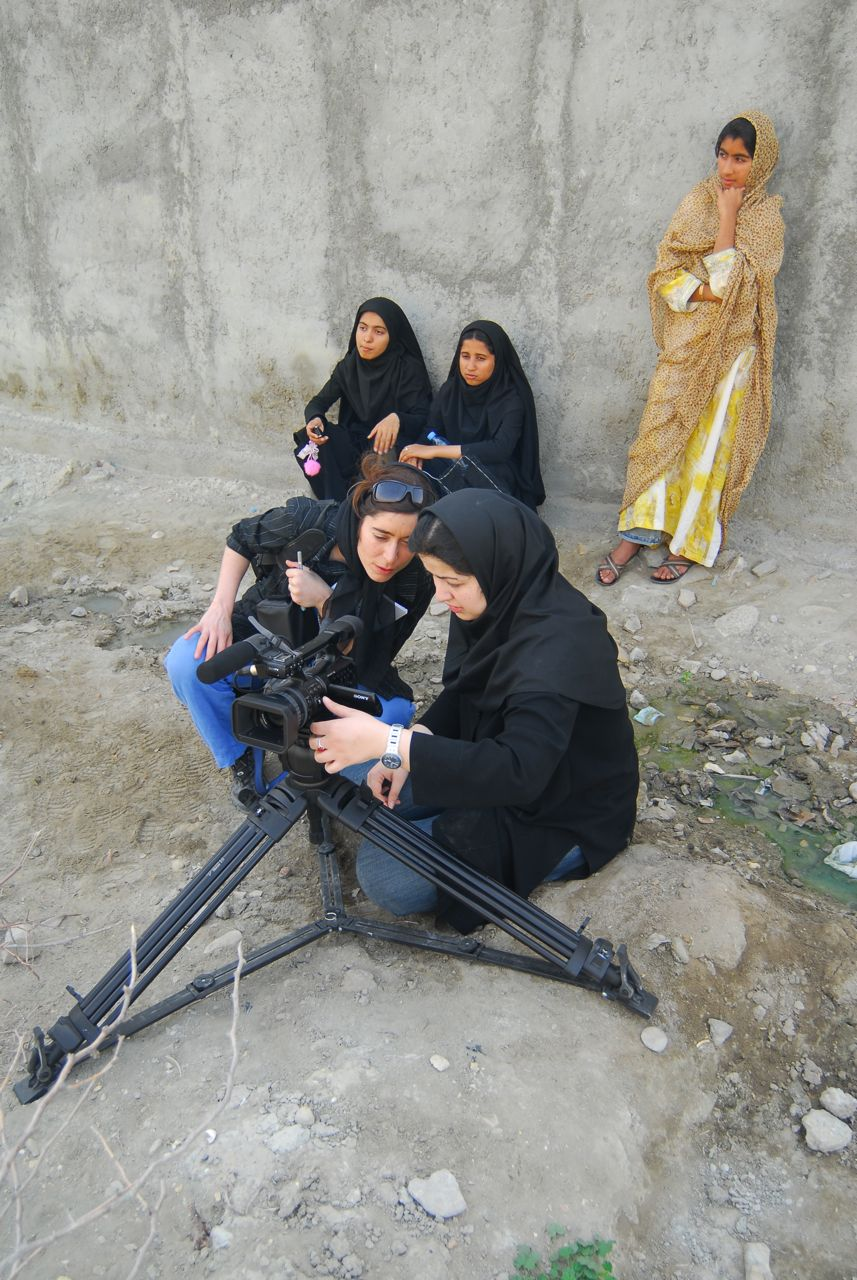 Behind the Scenes with Red Burqa shoot in Iran directed By Roxana Vilk