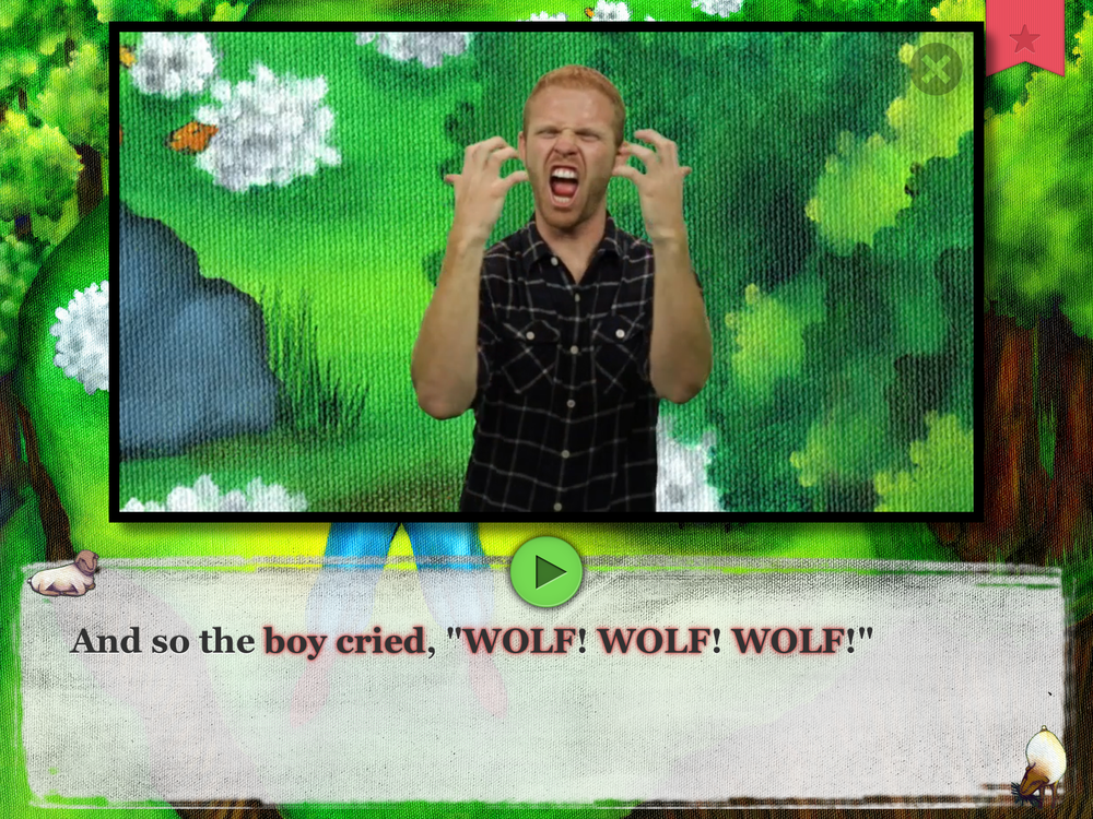 "The Boy Who Cried Wolf, ""READ"" mode: Sentence, 2048 x 1536, 6.2 MB, Use for Retina Display"
