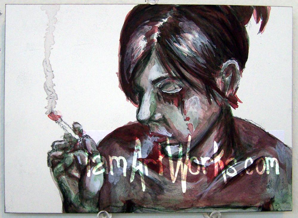 Smoking Zombie