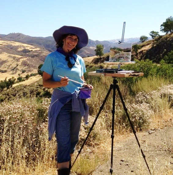 Plein air painting at the Attig Ranch in the California Central Coast