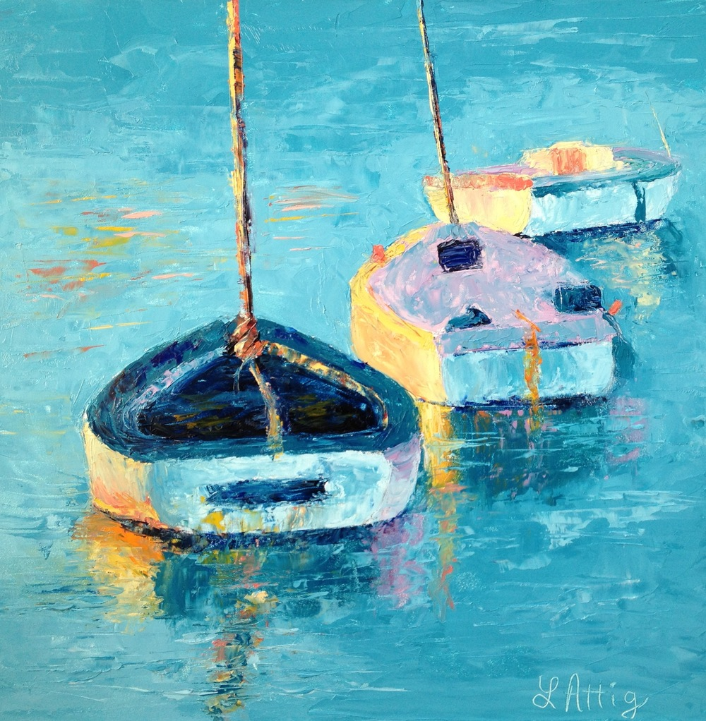 My second palette study using Leslie Saeta's boat photo as reference.