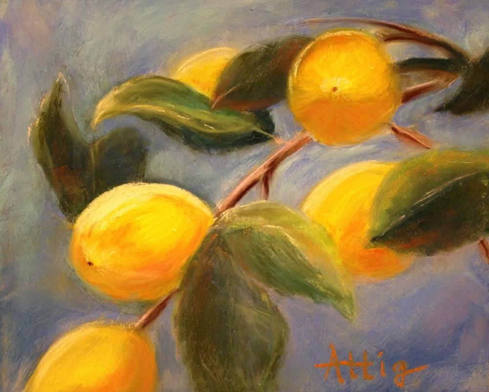 """Orchard Lemons,"" 8"" x 10"" $440"