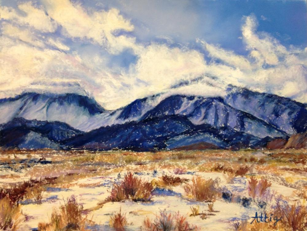 """Eastern Sierra Mountains, Bishop, Calif."" 12"" x 16"" Commission piece"