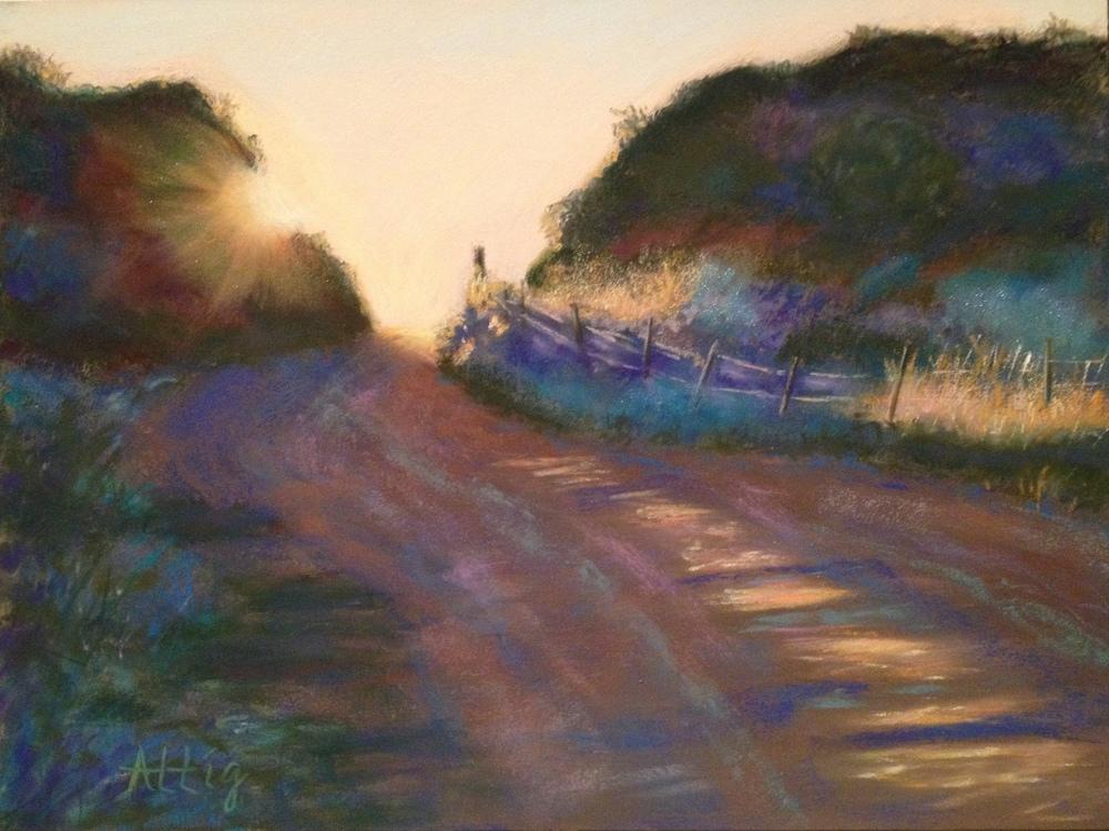 """Breaking of Dawn, Sierra Madre Road"" 9"" x 12"" SOLD"