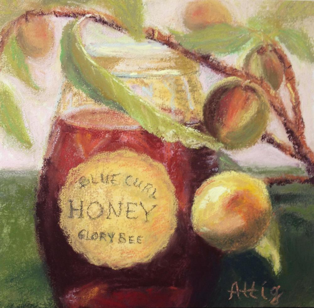 """""""Peaches n' Honey"""" 6"""" x 6"""" $275"""