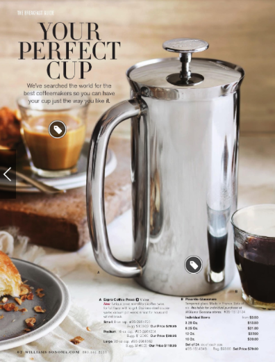 ESPRO Press in 2013 Fall Williams Sonoma catalog