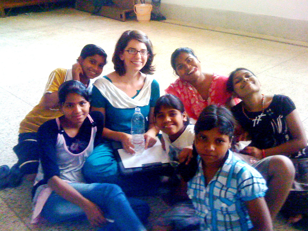 Me and six of my teachers--Deepa, Deepika, Sarita, Dephina, Juboti, and Pushpita.