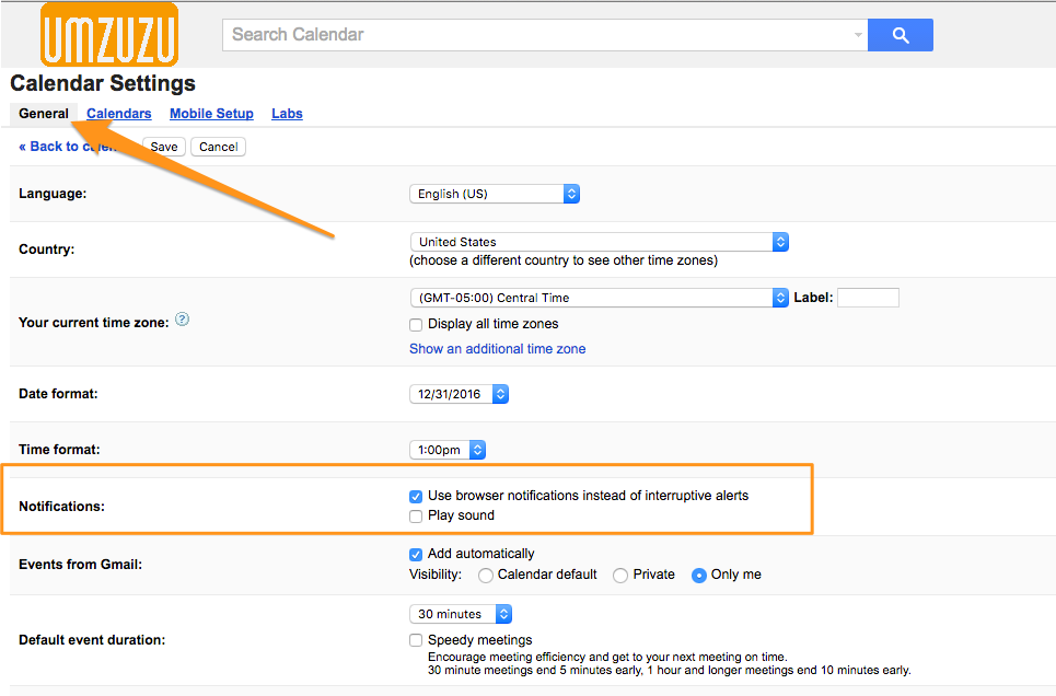 umzuzu_google_calendar_settings