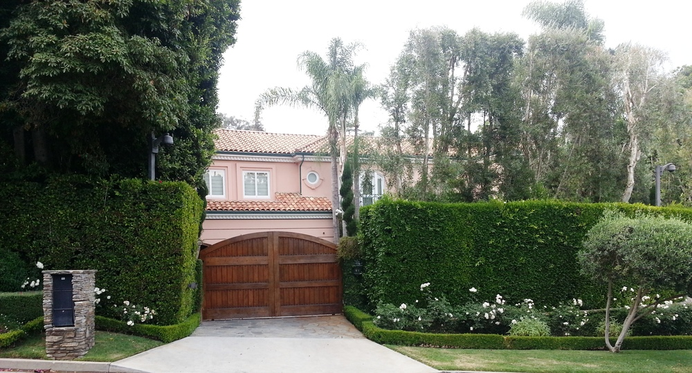 Christina Aguilera lives in the home which was previously owned by the Osbournes while they were filming their reality show.  A little too pink for my taste.