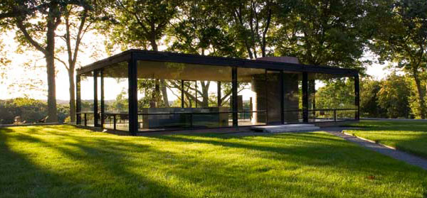Philip Johnson's Glass House in New Canaan, CT.  Built  1949