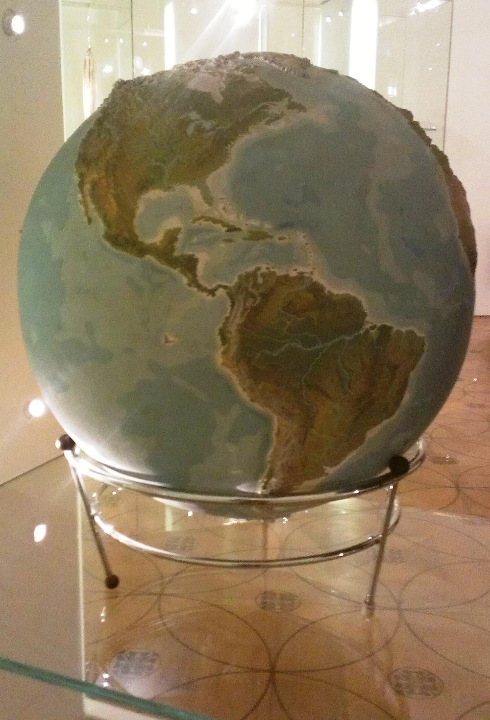 Topography globe