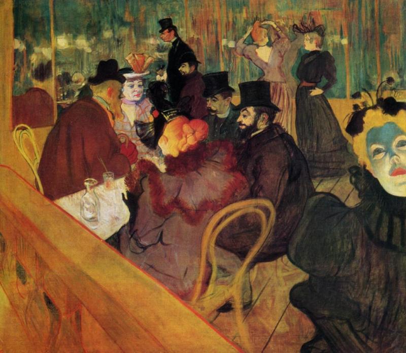 Henry de Toulouse-Lautrec - At the Moulin Rouge, 1890s