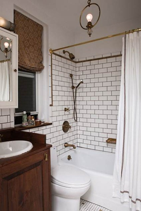 Bathroom Subway Tile Dark Grout subway tile + dark grout — branche