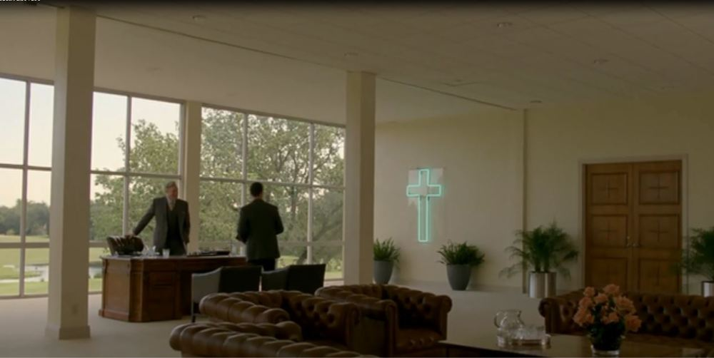 True Detective: Season 1 - A Church Big-Wig's office who is clearly hiding someting
