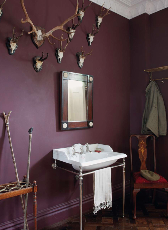A downstairs cloakroom in Yorkshire with a sink and taps from  Drummonds