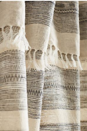 Striped Linen Curtains  - $148 0 $208 per panel