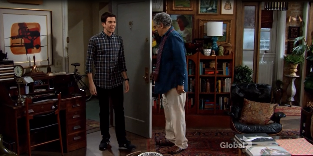 Mulaney: Season 1, Episode 1 - Gay-old-man-neighbor's mid-century rent-controlled apartment