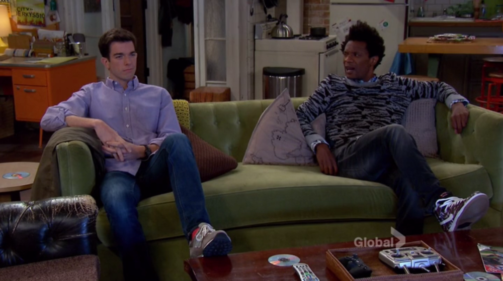 Mulaney: Season 1, Episode 3 - Living room in an apartment with three comedian roommates = breading ground for crippling insecurity