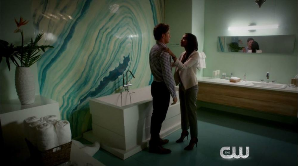 Jane the Virgin: Season 1, Episode 9 - Bathroom in a swank Miami hotel.