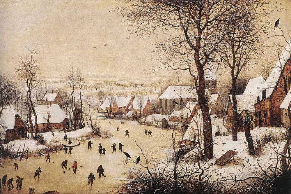 Bruegel - Winter Landscape with Bird Trap (1565)
