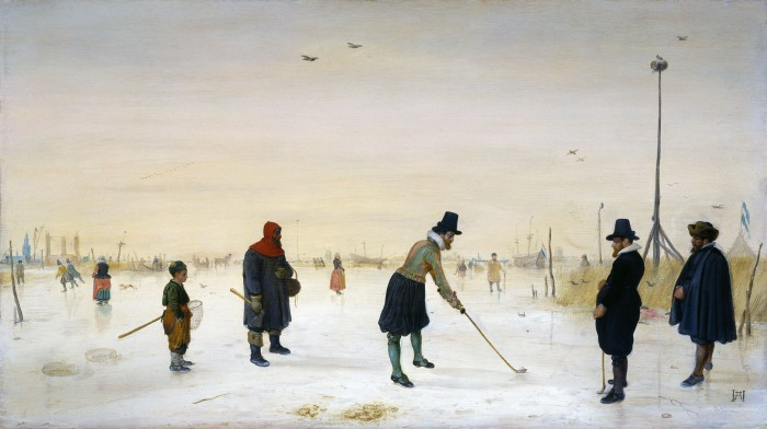 Hendrick Avercamp - Golf Players on the Ice (1625)