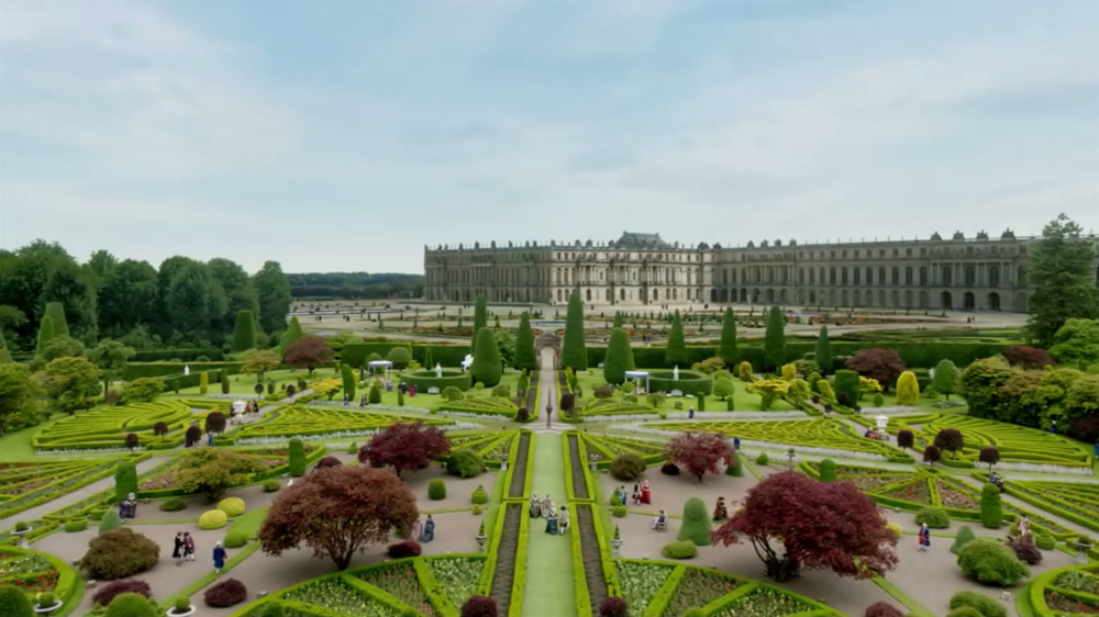 Formal garden branche for Garden design versailles