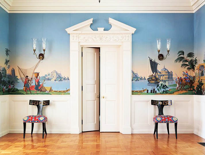 ... of Zuber, a french wall paper and fabric company established in 1797, only to discover that they created this one-of-a-kind room. I think I'm in love.