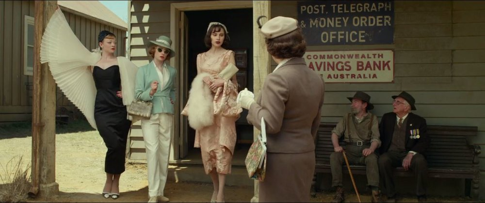 "The Dressmaker - ""Oh don't mind us.  We're just doing our morning errands"""