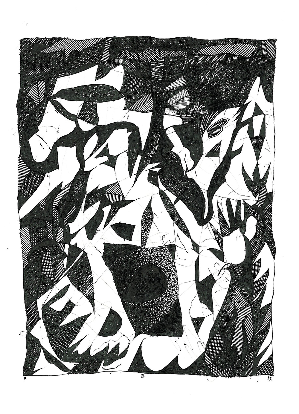 "Pen and Ink - 4.5"" x 5.5"" - 2012"