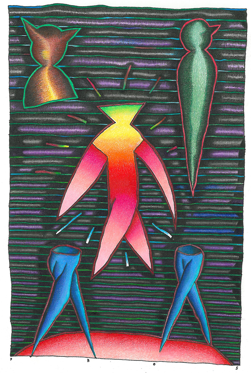 "Colored Pencil - 5.5"" x 8.5"" - 2005"