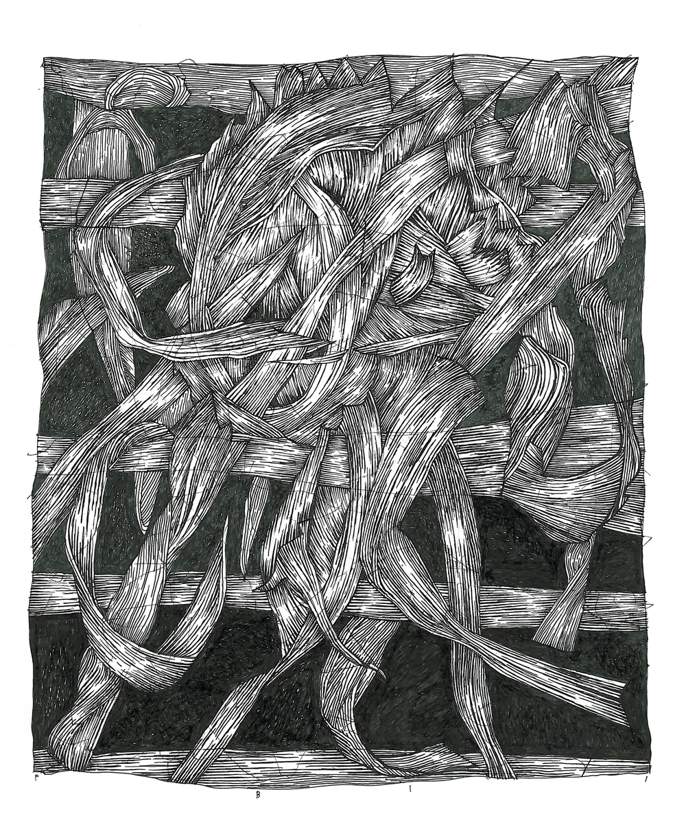 """Pen and Ink - 7"""" x 8"""" - 2011"""