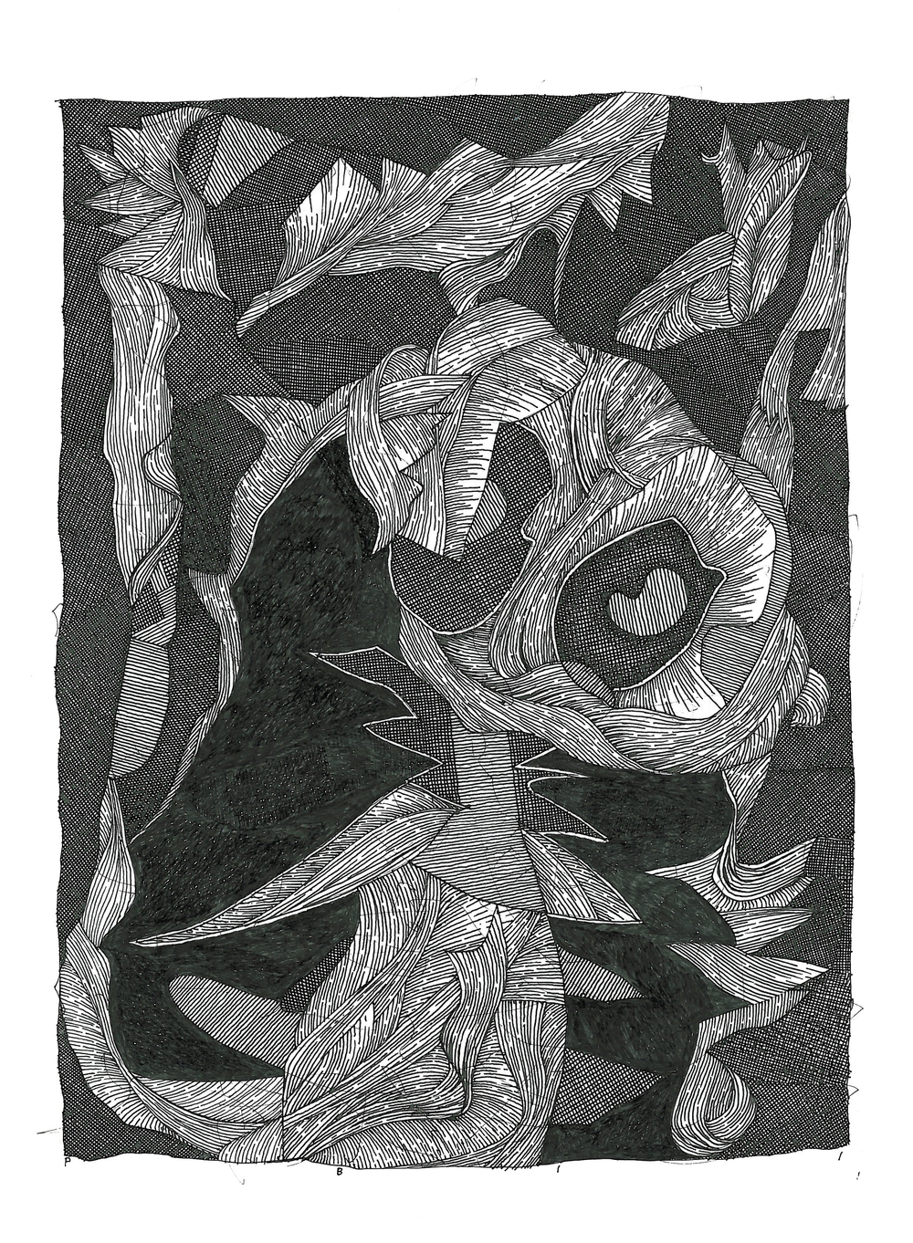 "Pen and Ink - 6.5"" x 9"" - 2011"