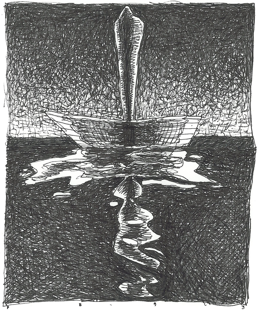 """Pen and Ink - 5"""" x 6.5"""" - 1993"""