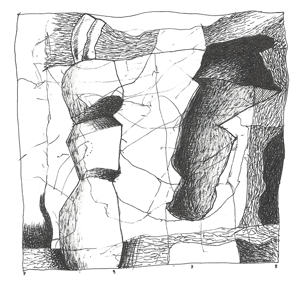 "Pen and Ink - 5.25"" x 5.25"" - 1993"