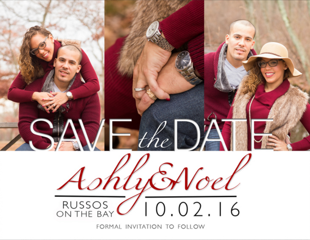 Save the Date card made by our production team @ Silverfox!