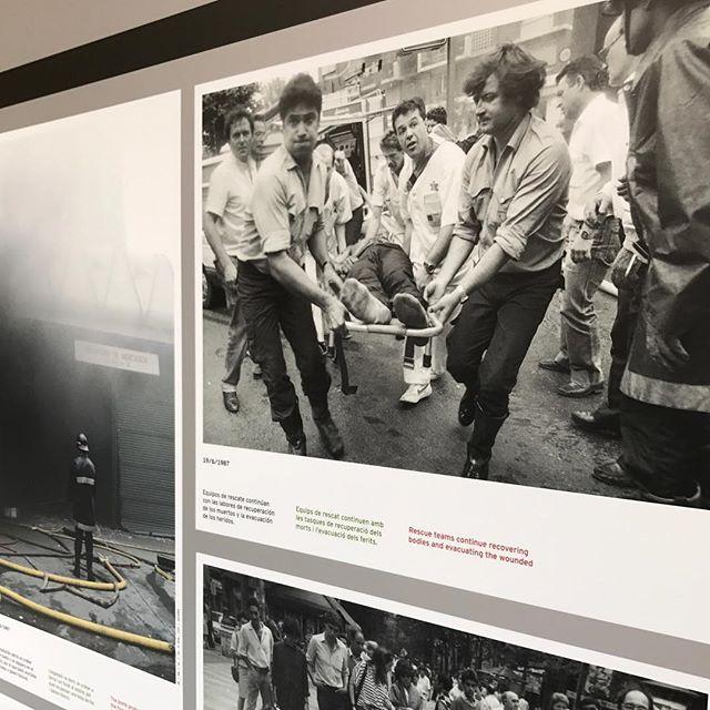 """Exposición """"Una mirada a Hipercor 30 años después del atentado"""" en el Arxiu de La Corona d'Aragó."""
