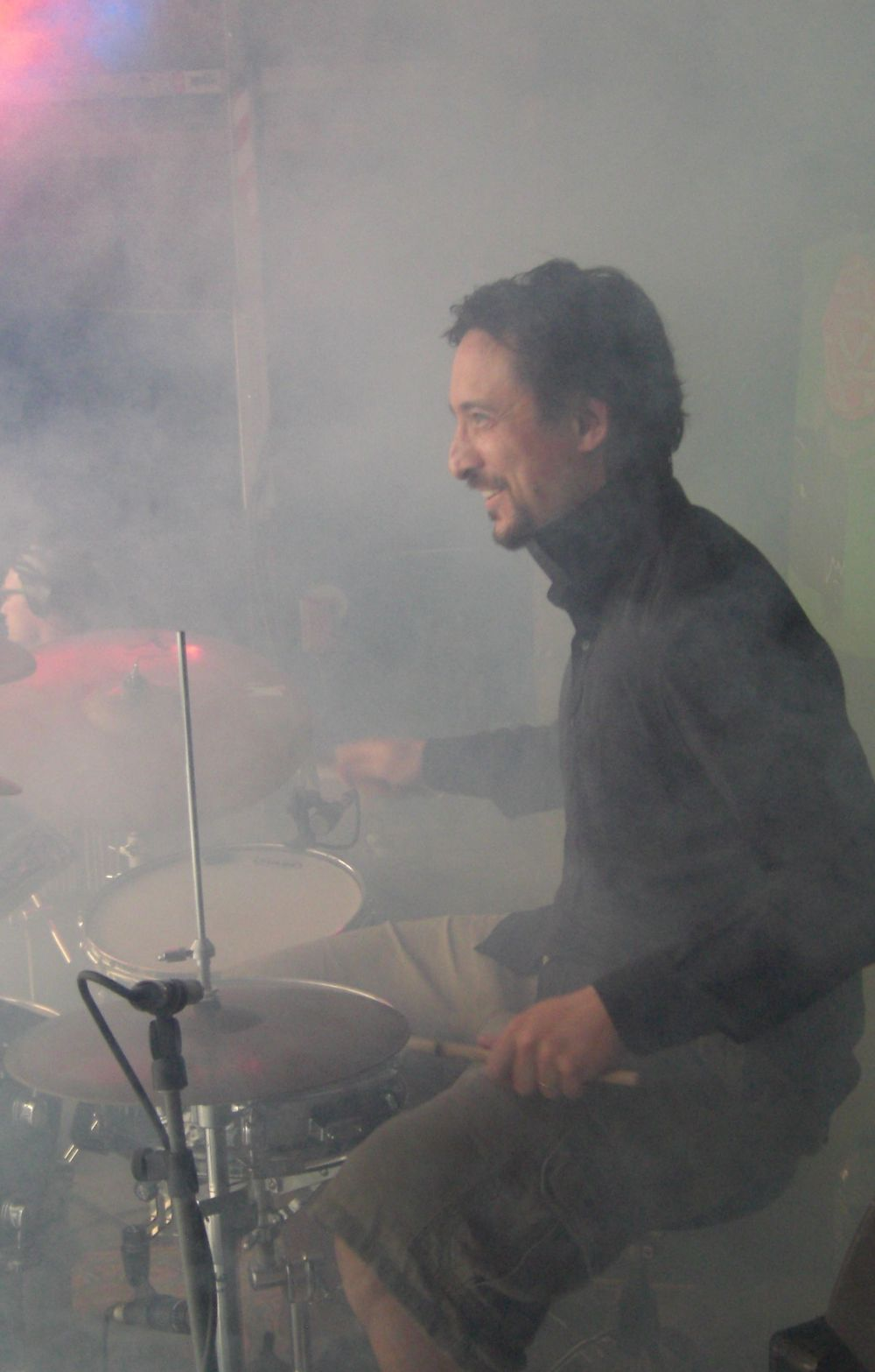 Performing with GOL at Knockengorroch Festival, 2009