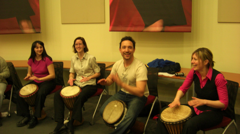 Djembe Section kicking off!