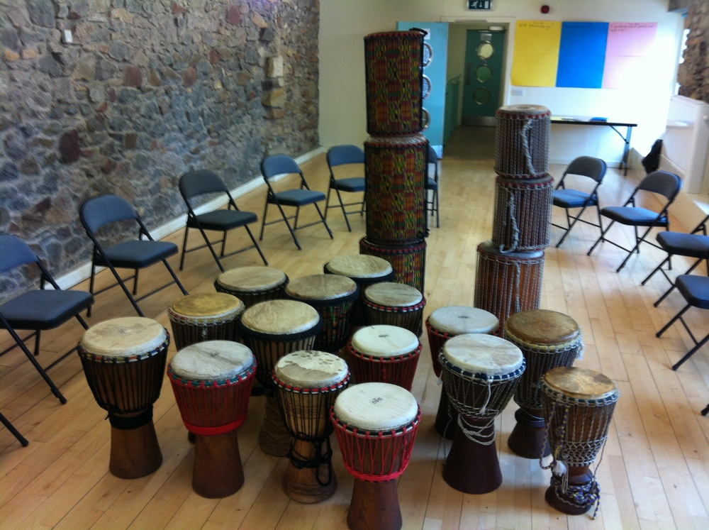 West African drumming set up!