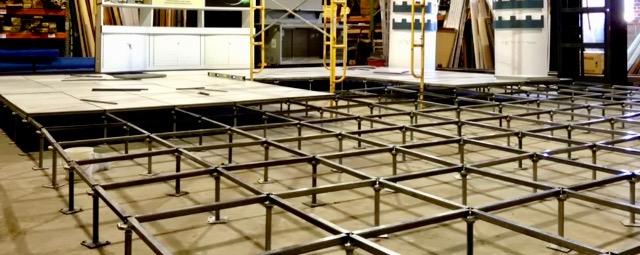 Raised flooring system example