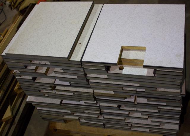 Raised flooring partial panels