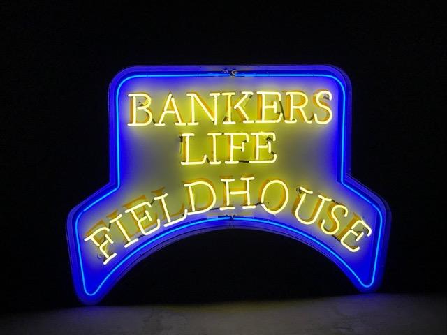 Banker's Life neon sign (lit)