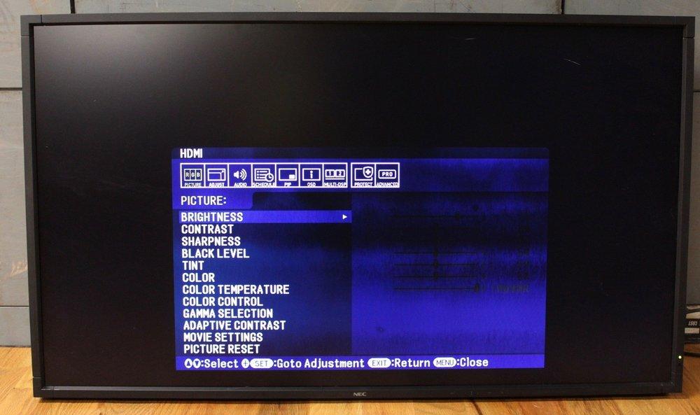 "NEC 46"" LCD flat panel monitors"