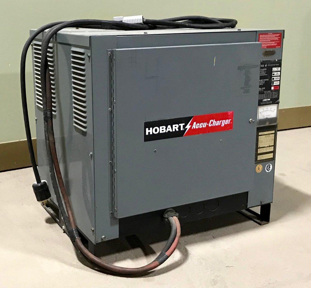 Hobart forklift battery charger