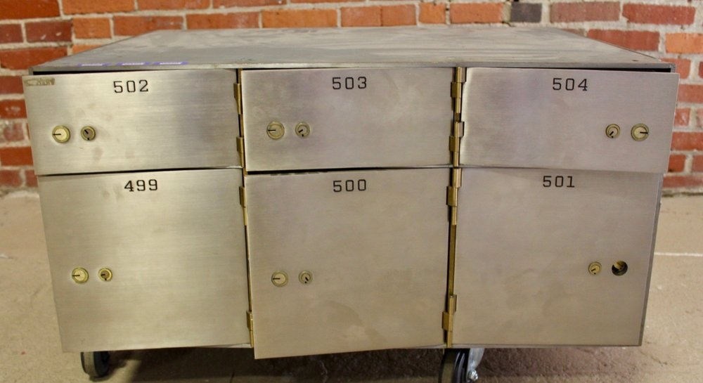 Safe deposit box vault