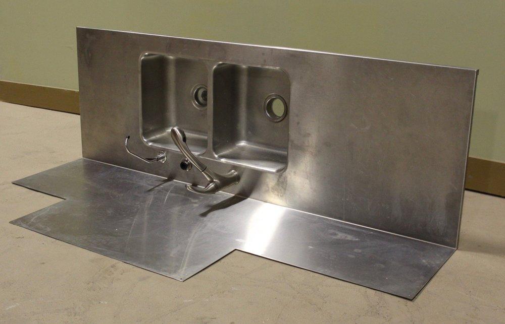 Stainless steel custom sink