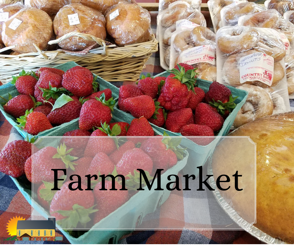 Enjoy local Strawberries at Country Barn!