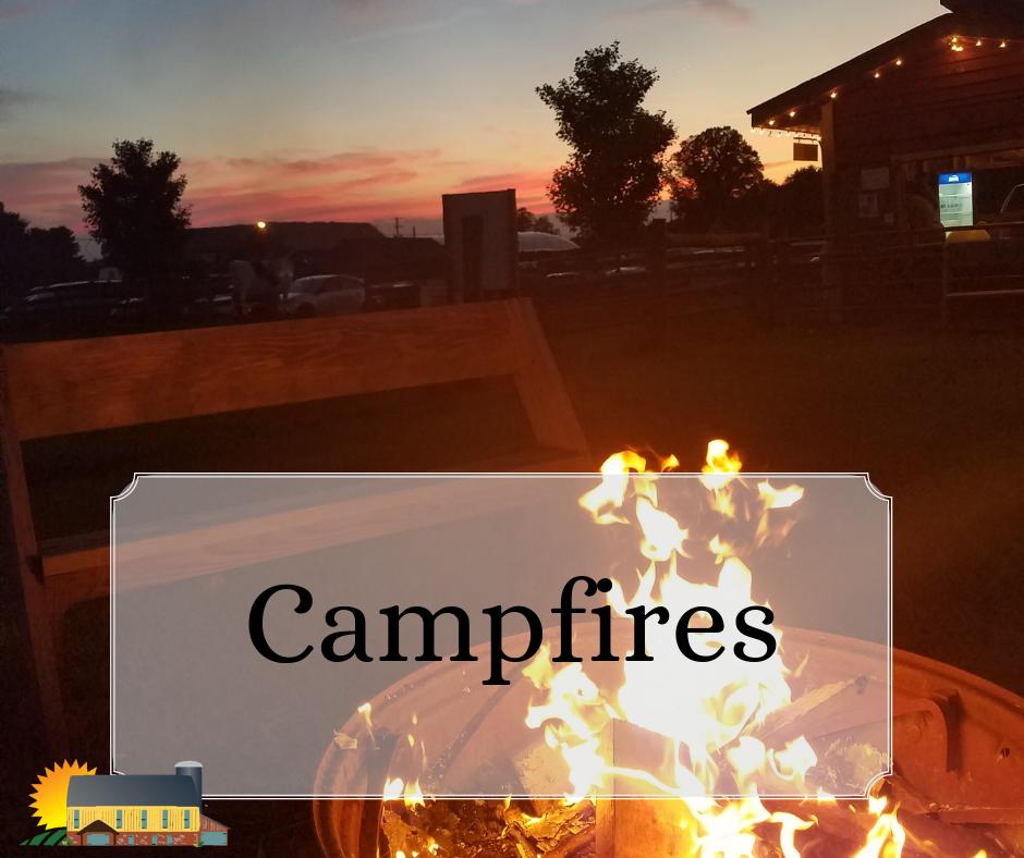 Reserve a private campfire at Barnyard Kingdom